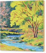 Spring Willow Wood Print
