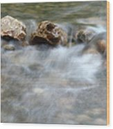 Spring With Rocks Nature Scene Wood Print