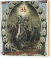 Springfield Bicycle Club 1886 Wood Print