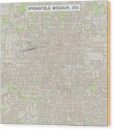 Springfield Missouri Us City Street Map Wood Print