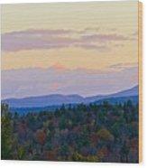 Springfield New Hampshire Mountain Veiw Fall Colors Wood Print