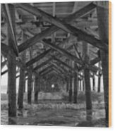 Springmaid Pier In Myrtle Beach South Carolina Wood Print