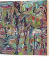 Springponies Wood Print