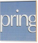 Springs Blue Wood Print