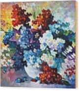 Springs Smile - Palette Knife Oil Painting On Canvas By Leonid Afremov Wood Print