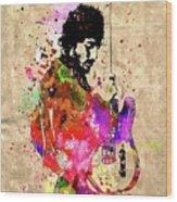 Springsteen Colored Grunge Wood Print