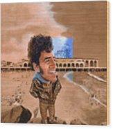 Springsteen On The Beach Wood Print