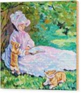 Springtime After Monet Wood Print