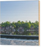 Springtime At Boathouse Row In Philadelphia Wood Print
