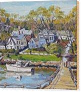 Springtime At Lobster Cove Annisquam Wood Print