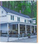 Springtime At The Valley Green Inn Wood Print