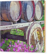 Springtime At V Sattui Winery St Helena California Wood Print by Michelle Wiarda