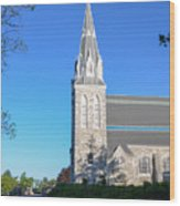 Springtime In Radnor - Villanova University Wood Print