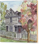 Springtime In The Country Wood Print