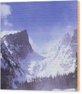 Springtime In The Rockies Wood Print
