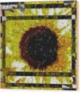 Springtime Mosaic Wood Print
