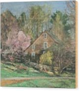 Springtime On Longhill Wood Print