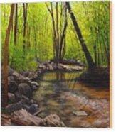 Springtime Reflected Wood Print
