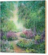 Springtime Walk Wood Print
