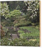 Springtime Walkway Wood Print