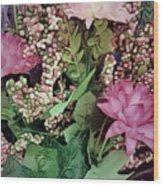 Springtime With Flowers Wood Print