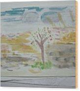 Spring.tree.sun. Water Color 1993 Wood Print