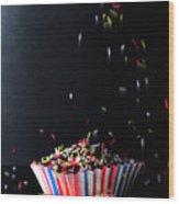 Sprinkles On Cup Cakes Wood Print