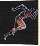 Sprinter, Artwork Wood Print