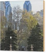 Sprintime At Rittenhouse Square Wood Print