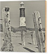 Spurn Lighthouse Wood Print