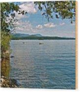 Squam Lake In New Hampshire   Wood Print