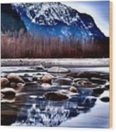 Squamish River Wood Print