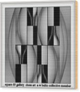 square 69 chess art  a w baltic collective galler  An Out Of Context Image Wood Print