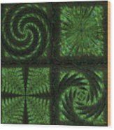 Square Crop Circles Quad Wood Print