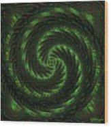 Square Crop Circles Two Wood Print