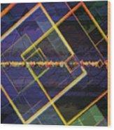 Square Fractals Wood Print