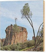 Square Rock Formation Wood Print