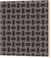 Square Rose Woven Pattern Wood Print
