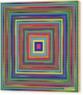 Square Shadings Wood Print