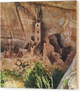 Square Tower Overlook - Alcove Dwellers Wood Print