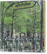 Square Victoria Metro Wood Print