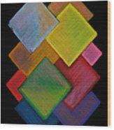 Squared Rainbow Wood Print