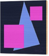 Squares And Triangle Wood Print