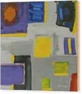 Squares Wood Print by Katie OBrien - Printscapes