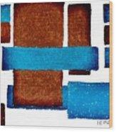 Squares Long And Short Wood Print