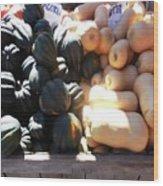 Squash At Market Wood Print