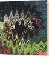Squash Beans And Peppers Abstract Wood Print