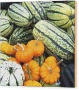 Squash Harvest Wood Print