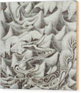 Squidmus Abstractus Wood Print by Sean Imler