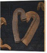 Squiggle Heart Wood Print